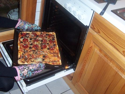 Pizza-im-Backofen